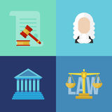 Legal law concept banners Royalty Free Stock Images