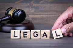 Legal law concept, gavel on  wooden desk.  Stock Photo