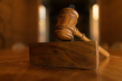Legal law concept image. Gavel in jurors room stock images