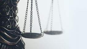Legal law concept image, Scales of Justice, golden light. royalty free stock photo