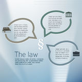 For Legal & law firm. Silver glow blur with sign legal law and bubble speak. Vector illustration eps 10. Stock Images