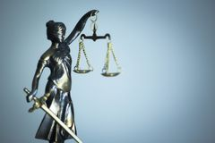 Legal law firm statue stock images