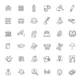 Legal, law and justice icon set. Modern thin line icons of law and lawyer services Royalty Free Stock Photo
