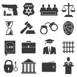 Legal, law and justice icon set Stock Image