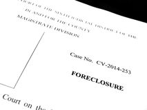 Legal Lawsuit Foreclosure Royalty Free Stock Photo
