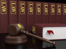 Legal literature. Gavel and law books, symbols of law and legal literature Royalty Free Stock Image