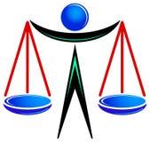Legal logo. Isolated illustrated silhouette legal logo design Stock Photo