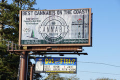 Legal marijuana, Billboard for Best Cannabis Stock Images