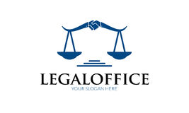 Legal Office Logo. Minimalist and modern legal logo template. Simple work and adjusted to suit your needs Royalty Free Stock Images