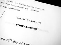 Legal Order Decree from Court Law Papers stock photo