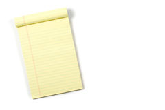 Legal Pad Royalty Free Stock Image