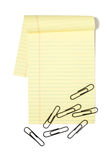 Legal Pad With Paper Clips Royalty Free Stock Photo