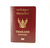 Legal passport book. For Thai people with white back ground Royalty Free Stock Photography