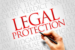 Legal Protection. Word cloud concept Stock Photo