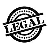 Legal rubber stamp. Grunge design with dust scratches. Effects can be easily removed for a clean, crisp look. Color is easily changed Royalty Free Stock Image