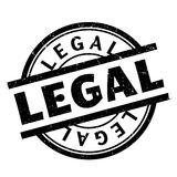 Legal rubber stamp. Grunge design with dust scratches. Effects can be easily removed for a clean, crisp look. Color is easily changed Stock Image
