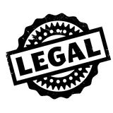 Legal rubber stamp. Grunge design with dust scratches. Effects can be easily removed for a clean, crisp look. Color is easily changed Stock Photos