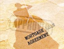 Legal series. Approved mortgage loan agreement. Making decisions concept Royalty Free Stock Photos