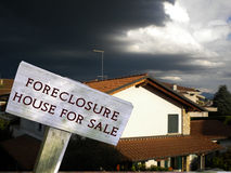 Legal series. Foreclosure - home for sale real estate sign Royalty Free Stock Images