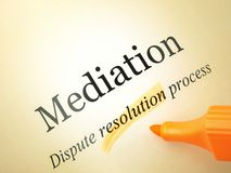 Mediation agreement Stock Photos