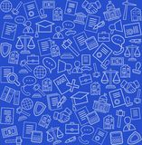 Legal services, blue background, seamless. Stock Image