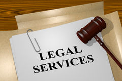 Legal Services concept. 3D illustration of LEGAL SERVICES title on legal document Royalty Free Stock Photography