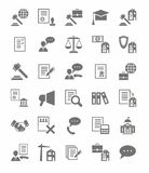 Legal services flat icons. Royalty Free Stock Images
