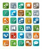 Legal services, icons, color with shadow. Stock Image