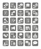 Legal services, the icons, monochrome. Stock Photography