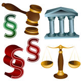 Legal Set. An image of a 3d legal set Royalty Free Stock Photography