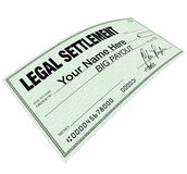 Legal Settlement - Blank Check Disbersement Royalty Free Stock Photo