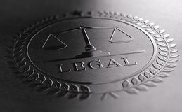 Legal Sign Design With Scales Of Justice Symbol stock photo