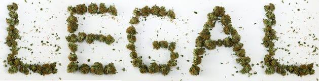 Legal soletrado com marijuana Foto de Stock
