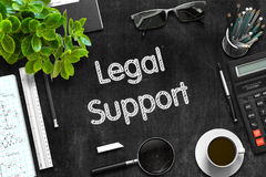 Legal Support on Black Chalkboard. 3D Rendering. Royalty Free Stock Images