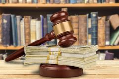 Legal System. Currency Auction Gavel Bribing Law Divorce Stock Images