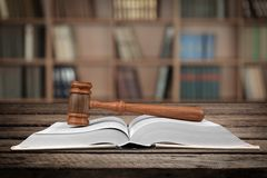 Legal System. Law Gavel Book Civil Rights Symbol Justice royalty free stock image