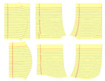 Legal yellow pages with curl at corners.. Royalty Free Stock Photo