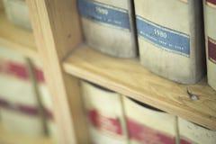 Legale Bücher der Sozietät Stockfotos