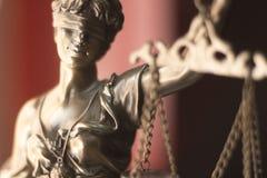 Legale Göttin des Rechtsanwaltsbüros Stockfoto