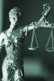Legale Göttin des Rechtsanwaltsbüros Stockfotos