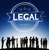 Legale Legalisierungs-Gesetzesgerechtigkeit Ethical Concept Stockbilder