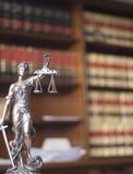 Legale Statue Themis der Rechtsanwaltsbüros Lizenzfreie Stockfotos