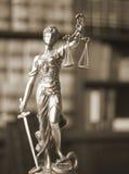 Legale Statue Themis des Rechtsanwaltsbüros Stockbild