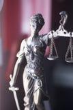 Legale Statue Themis des Rechtsanwaltsbüros Stockbilder