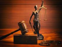 Legales Gesetzeskonzeptbild mit Skalen von Gerechtigkeit Lizenzfreie Stockfotos