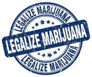 legalice el sello azul de la marijuana libre illustration