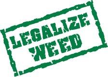 Legalice el sello de la mala hierba ilustración del vector