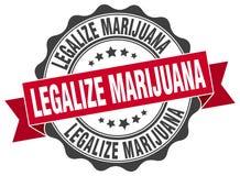 legalice el sello de la marijuana sello ilustración del vector