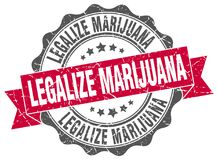 legalice el sello de la marijuana sello stock de ilustración