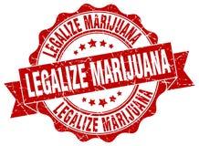legalice el sello de la marijuana sello libre illustration
